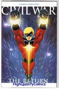 CIVIL WAR : RETURN #1, NM, Captain Marvel, FF, 1st, 2007, more in store