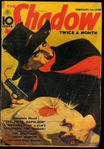 SHADOW 1938 FEB 1-STREET AND SMITH-PULP WALTER GIBSON VG
