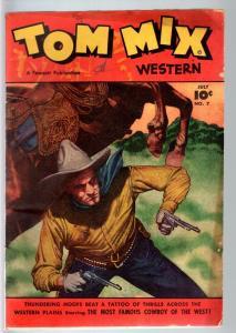 TOM MIX COMICS #7-1948-B WESTERN MOVIE COMIC BOOK-PHOTO COVER-FAWCETT PUBS   VG-