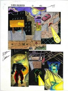 X-MEN UNLIMITED 10 PAGE 40 COLOR GUIDE ORIGINAL ART WATERCOLOR MATT WEBB BIN