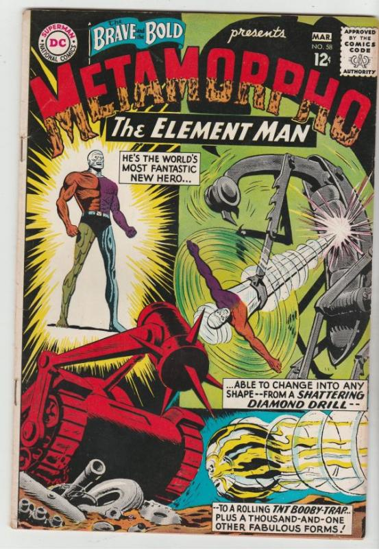 Brave and the Bold, The #58 (Mar-65) VF High-Grade Metamorpho