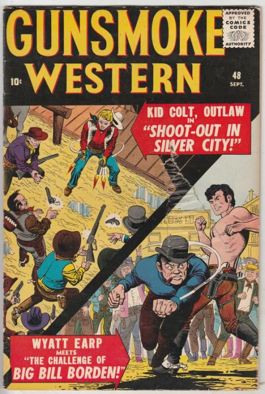 Gunsmoke Western #48 (Sep-58) VG+ Affordable-Grade Kid Colt