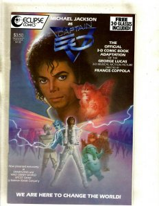 Michael Jackson As Captain EO NM Eclipse Comic Book W/ GLASSES Epcot Disney HJ9