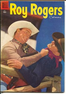 Roy Rogers #89 1955-Dell-photo cover-western stories-FN/VF