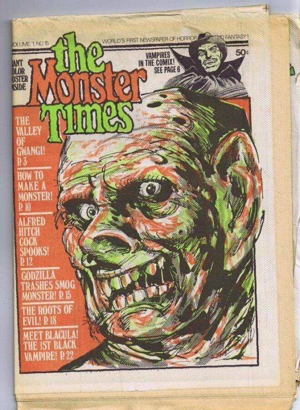 ORIGINAL Vintage 1972 The Monster Times Horror Newspaper Magazine #15 Vampires