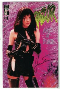 Razor #1 2nd printing FN signed by Everette Hartsoe - london night bad girl