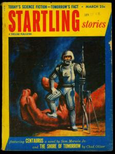 Startling Stories Pulp March 1953- Spaceman cover- Walter Popp- G