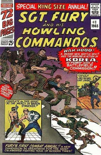 Sgt. Fury Annual #1, VG- (Stock photo)