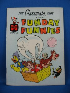 Classmate Shoe Giveaway FUNDAY FUNNIES BABY HUEY AUDREY Fine- 1961 Not in Guide?