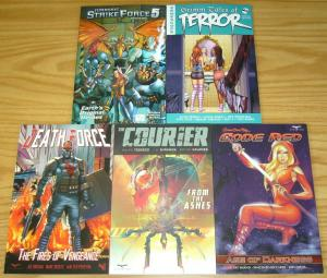Lot of (5) Zenescope TPBs - grimm fairy tales - jurassic strike (value: $75.95)