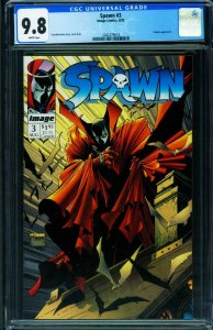 SPAWN #3 CGC 9.8-1992-Image-Violator appearance 2042279018