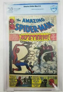 Amazing Spider-Man #13- 1964 CBCS 3.0 (G/VG) Origin/ 1st Appearance of Mysterio