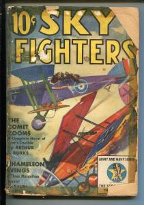 SKY FIGHTERS 3/1939-AIR WAR PULP-THRILLS-ARMY-NAVY-INSIGNIA-fr