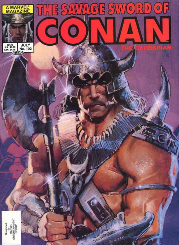 Savage Sword of Conan #102 FN; Marvel | save on shipping - details inside