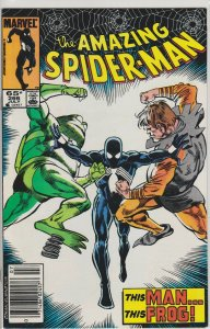 Amazing Spider-Man #266 - Newsstand Edition - July 1985 - Frog-Man