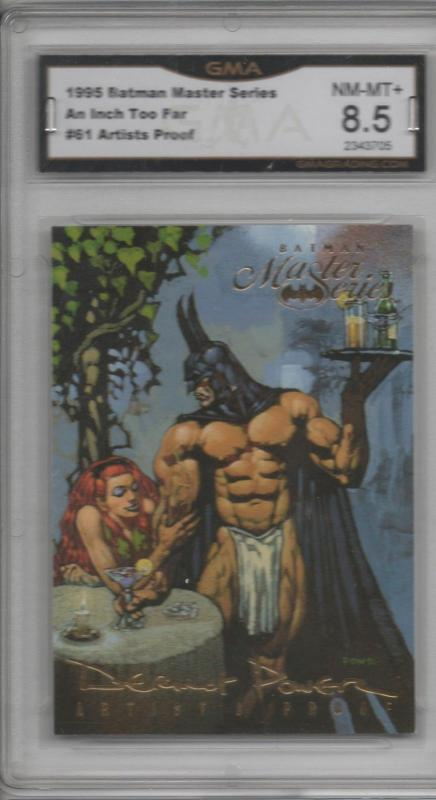 1995 Batman Master Series #61 Artist Proof Graded Before Batwang Chippendale Bat