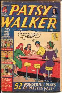 Patsy Walker #34 1950-Atlas-soda shop-ice creamr-52 page issue-Hedy Wolfe-G
