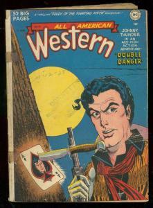 ALL AMERICAN WESTERN #112 1950-KURTZMAN-JOHNNY THUNDER G/VG