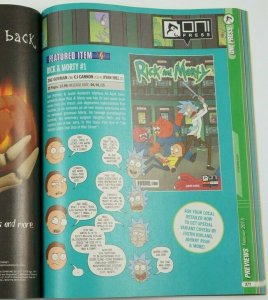 Previews Magazine #317 February 2015 - pre-dates Oni Press Rick and Morty #1