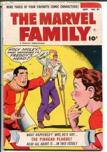 Marvel Family #87 1953-Fawcett-Capt Marvel-Mary Marvel-Capt Marvel Jr-VG