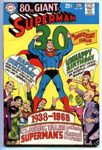 SUPERMAN #207 COMIC BOOK 1968 DC 80 page giant-VF-
