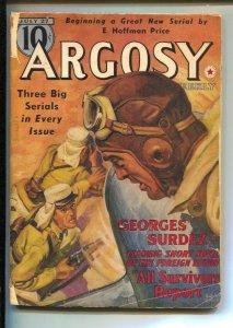 Argosy 7/27/1940-Rudolph Belarski Foreign Legion cover-Pulp stories by Jim Kj...