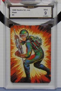 1986 Hasbro GI Joe Flash Series #1 Card #3 - Graded Mint 9