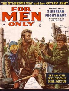 FOR MEN ONLY NOV 1958 ISLAND OF LOST WOMEN JUNE BLAIR VG