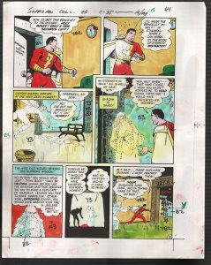 Hand Painted Color Guide-Capt Marvel-Shazam-C35-1975-DC-page 41-VG/FN