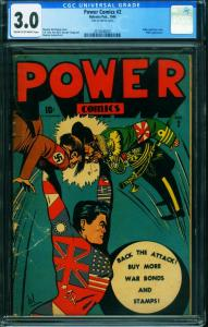 Power Comics #2 1944 CGC 3.0-L.B. Cole-Hitler and Tojo- 2014540001
