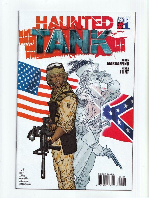 Haunted Tank 1 - 5 Complete Set DC Vertigo 2009 Comic Book Series NM