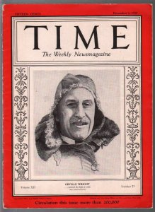 Time 12/3/1928-Orville Wright-Prohibition & Corruption-historic-VG