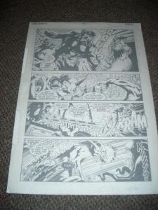 ORIGINAL NEIL VOKES TEENAGENTS ART-ISSUE #1 PG #4 12x17 FN