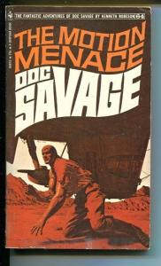 DOC SAVAGE-THE MOTION MENACE-#63-ROBESON-VG/FN-JAMES BAMA COVER-1ST ED VG/FN
