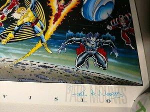 1992 MARVEL COMICS MASTER VISION POSTER 37.5 X 20 LIM AUSTIN MOUNTS