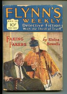 FLYNN'S WEEKLY DETECTIVE FICTION-DEC 18 1926-PULP-CRIME-MYSTERY-HOWELLS-good