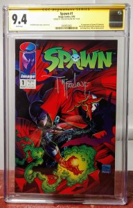 Spawn #1, CGC 9.4 Signed by T. McFarlane