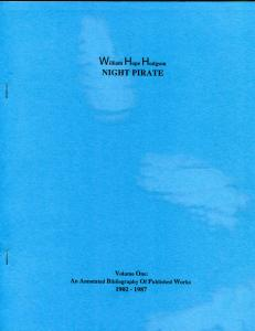NIGHT PIRATE by William Hodgson, VF/NM, 1987, Ltd, Softcover,  Joseph Bell, #198