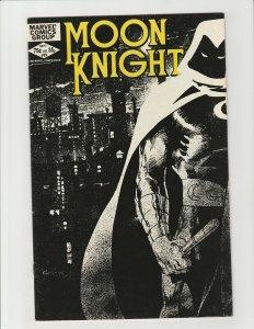 Moon Knight #23 (Marvel 1982) Bill Sienkiewicz Art Black Cover High Grade VF