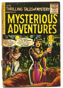 Mysterious Adventures #24 1955-Hy Fleishman-Grave Witch horror incomplete