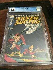 SILVER SURFER #4 - CGC 6.5 (FN+) LOW PRINT RUN - SILVER AGE KEY - CLASSIC COVER