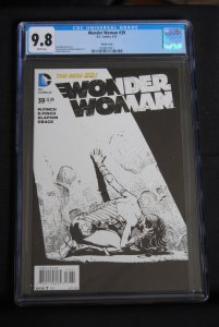 Wonder Woman #39, CGC 9.8, Sketch Cover. White pages.