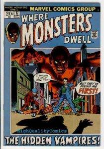 WHERE MONSTERS DWELL #17, Ditko, Vampires, 1970, FN/VF