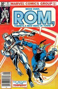 Rom (1979 series) #21, VF+ (Stock photo)