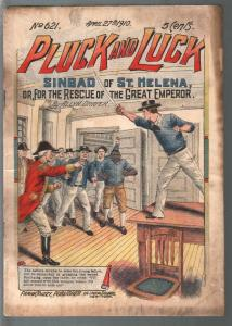 Pluck and Luck #621 4/27/1910-Tousey-Sinbad of St Helena-pulp fiction-G