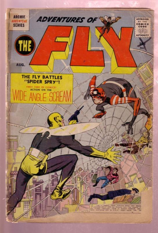 THE FLY #1 1959-ARCHIE ADVENTURE SERIES-JACK KIRBY ART FR