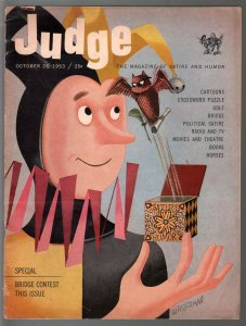 Judge 10/26/1953-gags & cartoons-David Wasserman-wacky humor-VG