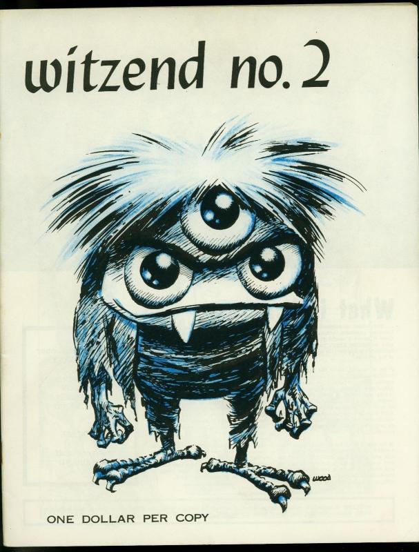 Witzend #2 1967- Wally Wood Pro fanzine- Gray Morrow- Frazetta FN/VF