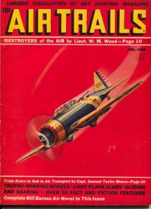 Air Trails 2/1938-hero pulp -Bill Barnes-Frank Tinsley-G. L. Eaton-FN-