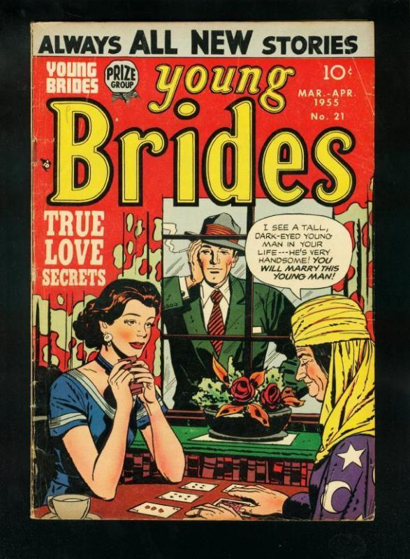 YOUNG BRIDES #21 1955-LAST PRECODE ISSUE-FORTUNE TELLER COVER-very